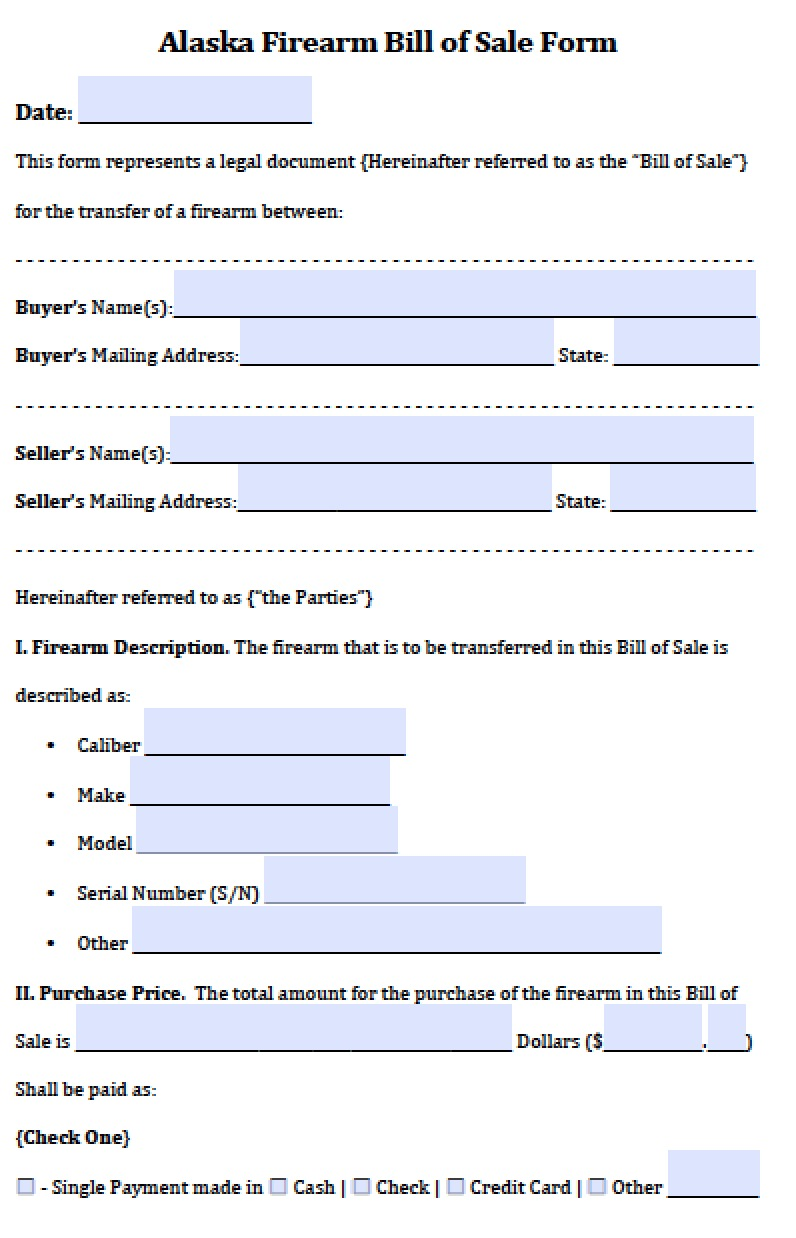 Motor Vehicle Bill Of Sale >> Free Alaska Vehicle Bill of Sale Form | PDF | Word (.doc)
