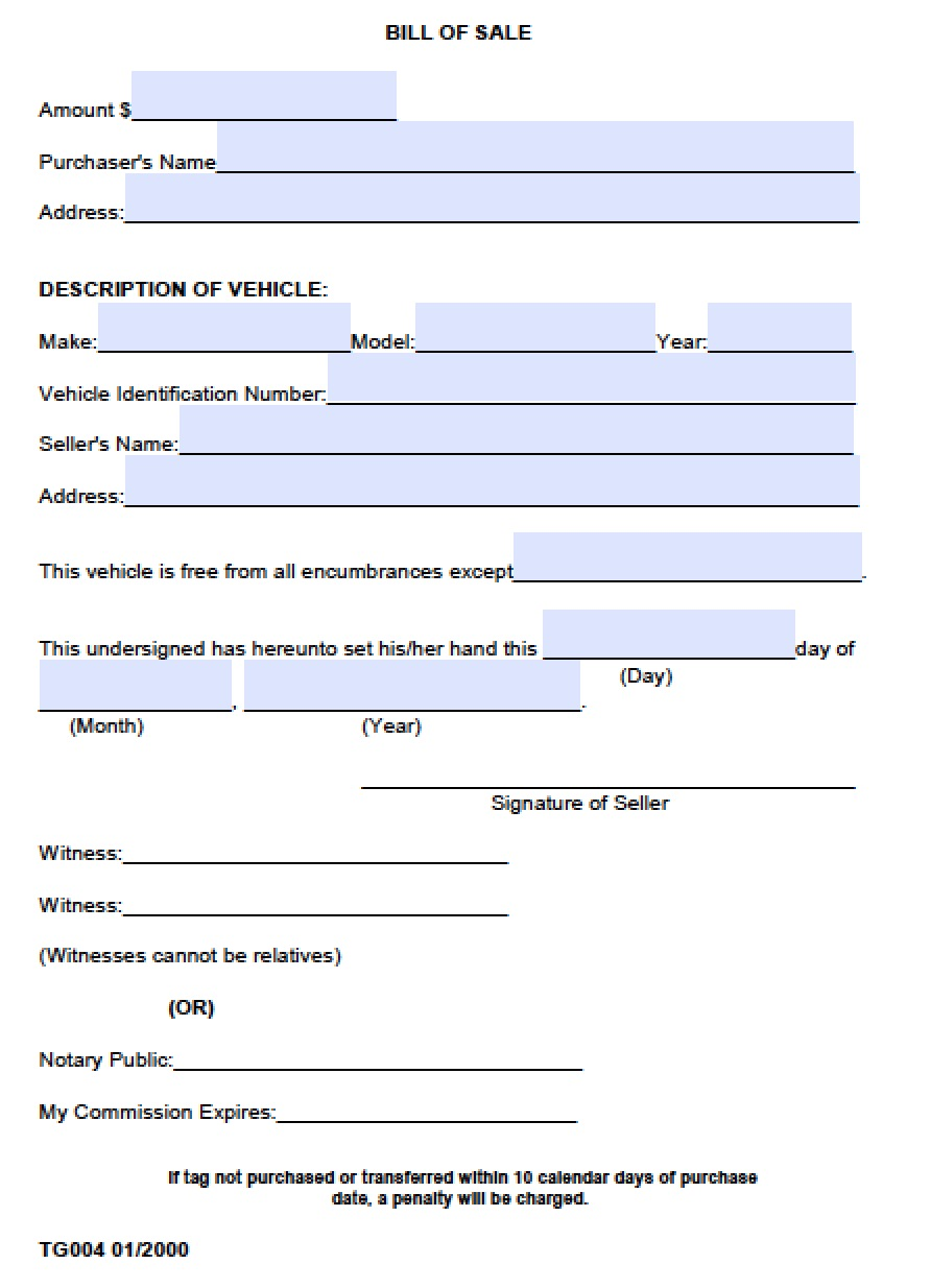 alabama automotive bill of sale Free Madison County, Alabama Bill of Sale Form | PDF | Word (.doc)