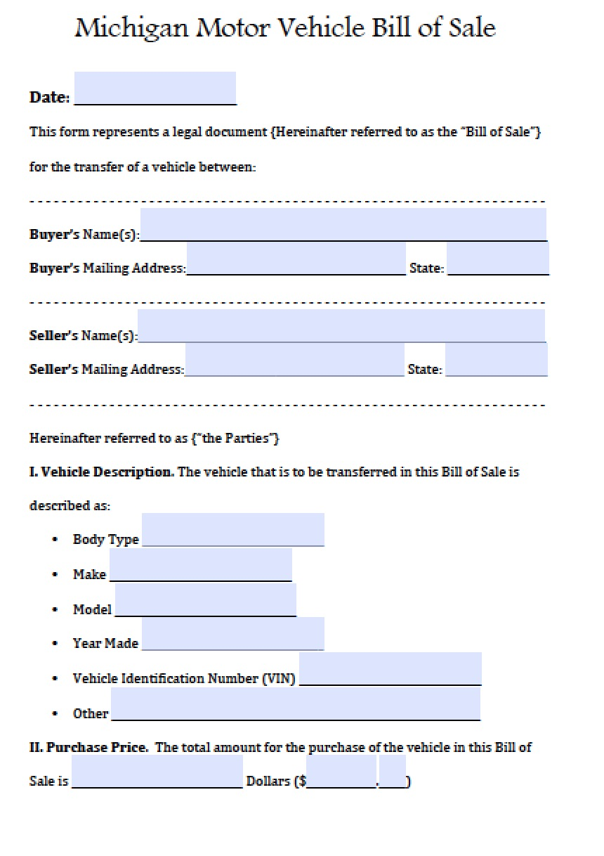 BillofSale.net  Bill Of Sale Word Doc