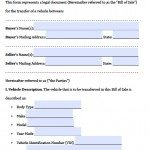 free texas motor vehicle bill of sale form pdf word doc